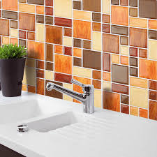 3d mosaic tile modern wallpaper foil sticker bathroom kitchen home
