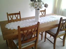 solid pine dining table and 4 pine chairs for sale in barry