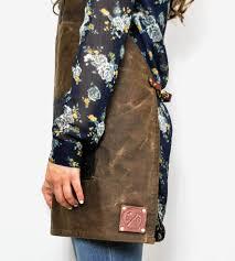 Womens Aprons Macbeth Women U0027s Waxed Canvas U0026 Leather Apron Women U0027s Accessories