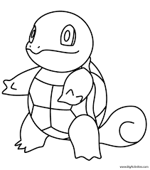 squirtle coloring pokemon
