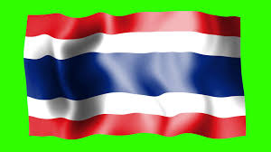 Flag Of Thailand Thailand Waving Flag Green Screen Animation Youtube