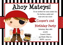 birthday invites beautiful pirate birthday invitations ideas
