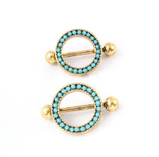 with nipple rings images 12pcs fashion body jewelry trendy antique gold color nipple ring jpg