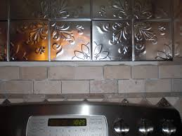 interior mirror backsplash tiles for unique kitchen decor ideas