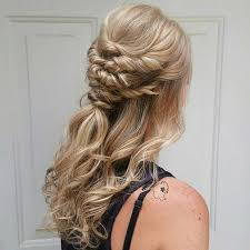 partial updos for medium length hair 31 half up half down hairstyles for bridesmaids stayglam