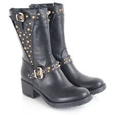 womens motorcycle boots uk daniel black leather passeri studs womens biker boot