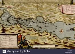 Vigo Spain Map by Vigos Spain 1700 Battle Of Vigo Bay Stock Photo Royalty Free