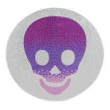 jumbo purple skull sticker rhinestone wall stickers stickerbeans rhinestone jumbo purple skull wall stickerbeans