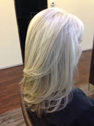 blonde streaks for greying hair pattern matching blonde highlights on natural gray hair dres hair