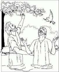 jesus baptism coloring page to inspire to color an image cool