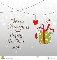 doodles new year and xmas 2016 easy fun card design stock vector