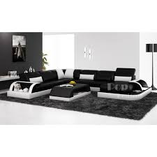 canapé design noir et blanc canap cuir noir design canape cuir noir places canapac design