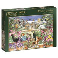falcon de luxe winter garden jigsaw puzzle 1000 piece amazon co
