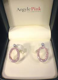 diamond earrings sale oprah winfrey argyle pink diamond earrings up for sale estimated