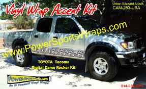 Ford Camo Truck Wraps - digital camo digital camouflage wrap toyota tacoma camo rocker