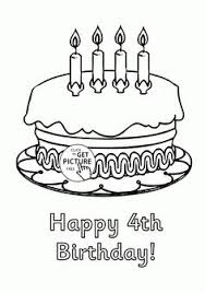 4 birthday coloring pages coloring pages