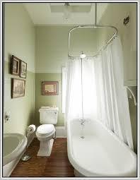 Design Clawfoot Tub Shower Curtain Rod Ideas Oval Shower Curtain Rod For Clawfoot Tub Bathtub Designs