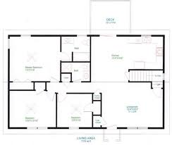 ranch home floor plan floor simple bedroom house plans that are printable for small