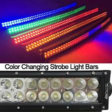 54 color changing curved led light bar waterproof light