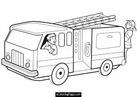 fireman coloring pages printable fire truck firemen