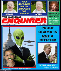 enquirer special obama is an alien freaking news strange