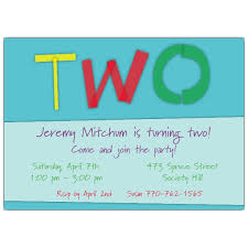 cut out two blue 2nd birthday invitations paperstyle