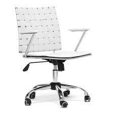 Modern Leather Office Chairs Amazon Com Baxton Studio Vittoria White Leather Modern Office