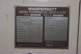 multi quip whisperwatt 45 portable generator item w9465