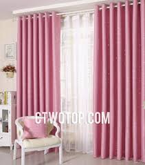 sweet pink stars printed blackout curtains for nice