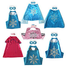 Snowflake Halloween Costume L70 W70cm Double Side Cartoon Snowflake Cape Mask Anna Capes