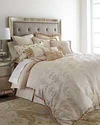 cream silk bedding neiman marcus