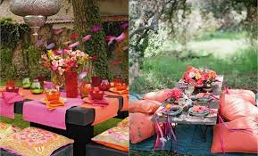 party table centerpiece ideas summer garden party table decorating ideas in colors