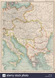 Map Eastern Europe Eastern Europe Protestant Missions U0026 Work Among Jews Turkey Stock