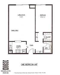 1 bedroom floor plan highland house apartments worcester ma 1 and 2 bedroom luxury