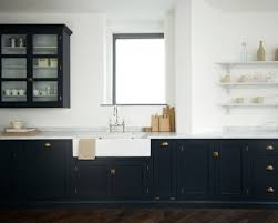 Kitchens With Brass Hardware  Navy Cabinets - Navy kitchen cabinets