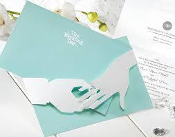 3d wedding invitations mint blue 3d ring unique wedding invitations cho 2859