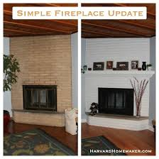 How To Cover Brick Fireplace by Simple Fireplace Update Harvard Homemaker