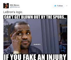 Spurs Meme - social media ridicules lebron james performance against the