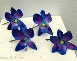 blue and purple orchids blue purple orchid etsy