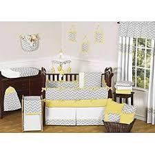 crib bedding sets yellow and grey
