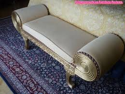 Fabric Bench For Bedroom Gray Fabric Bedroom Settee Bench Design