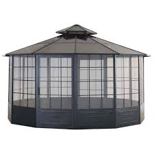 outdoor sunjoy gazebo 10 x 10 gazebo metal roof gazebo