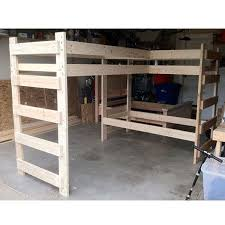 Solid Wood Loft Bed Plans by Top 25 Best Twin Size Loft Bed Ideas On Pinterest Bunk Bed
