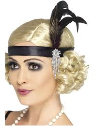 buy 1920 s satin charleston flapper headband great 20 s fancy dress