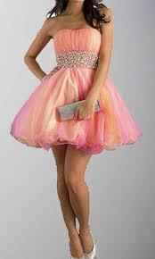 rainbow strapless rhinestones short organza prom gowns ksp283