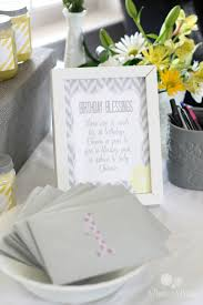 purple yellow u0026 gray baby shower parties for pennies