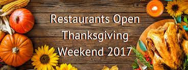 restaurants serving thanksgiving dinner 2017 near columbus oh