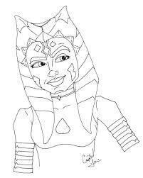 ahsoka tano coloring pages coloring pages ideas