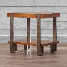 Rustic End Tables Loon Peak Gallatin End Table Reviews Wayfair