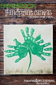 handprint canvas craft for kids